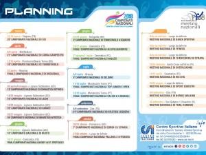 Calendario campionati nazionali 2018