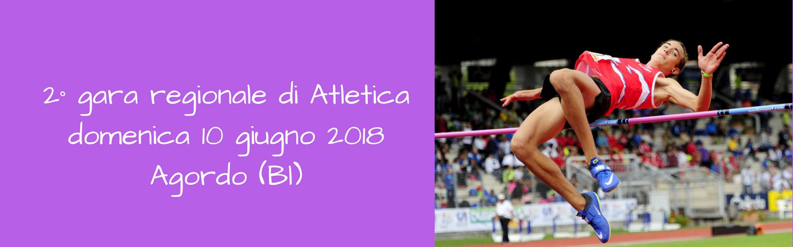 2° gara regionale di atletica – Domenica 10 giugno ad Agordo
