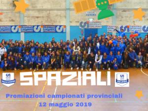 Premiazioni Sport di Squadra – maggio 2019