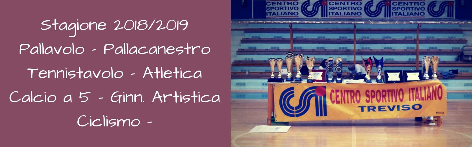 Stagione sportiva 2018/2019